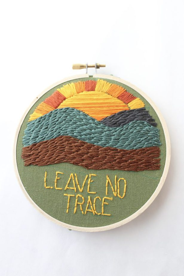 How to make your own embroidery patterns - embroidered landscape