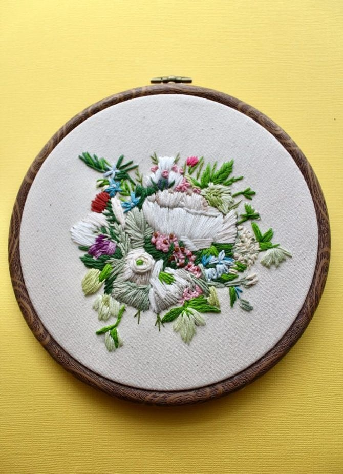 How to Embroider Flowers By Hand