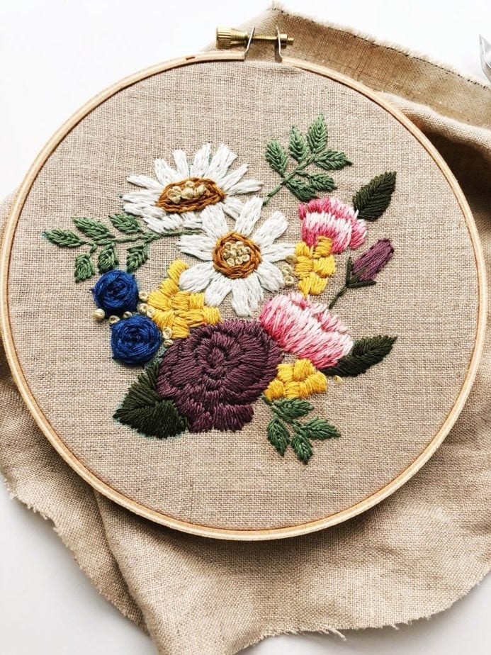 16 Flower Embroidery Patterns  [4 That Are Free!]