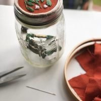 mason jar embroidery project