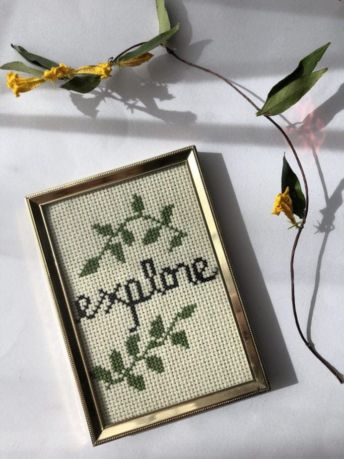 How To Cross Stitch – Tutorial / Free Pattern!