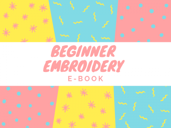 beginner embroidery ebook