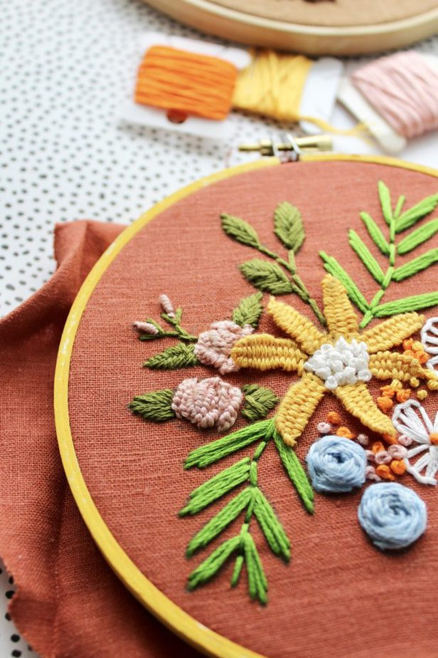floral embroidery stitches