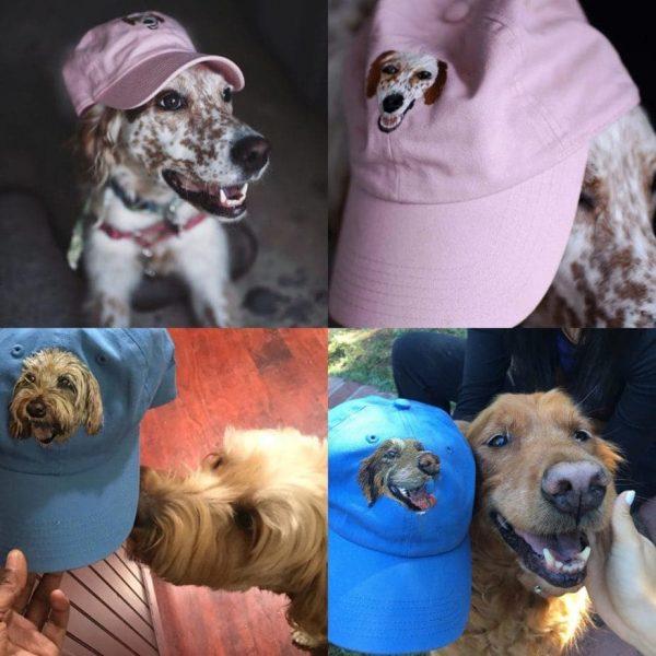 dog portrait on a hat - dog mom hat
