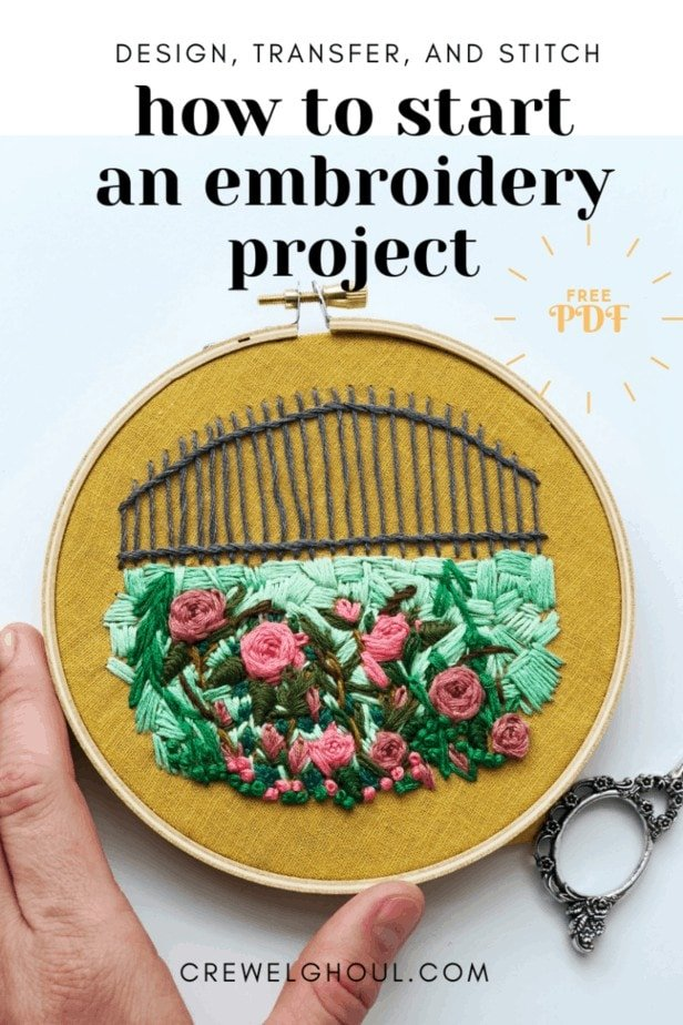 How to Start an Embroidery Project -Design, Transfer and Stitch An Embroidery Pattern