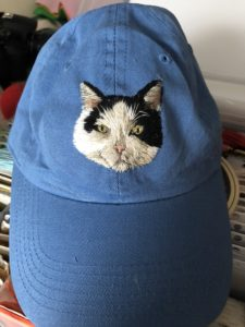 embroidered cat mom hat