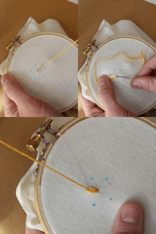 how to do the lazy daisy stitch