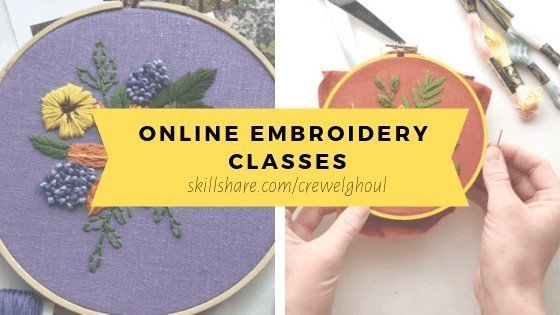 online embroidery classes on skillshare