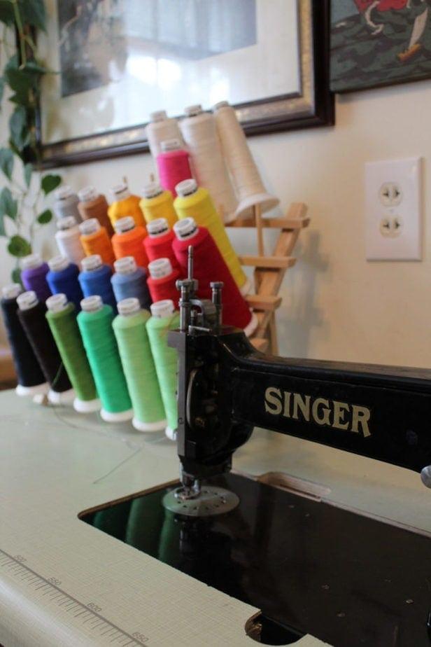 antique singer chain stitch machine