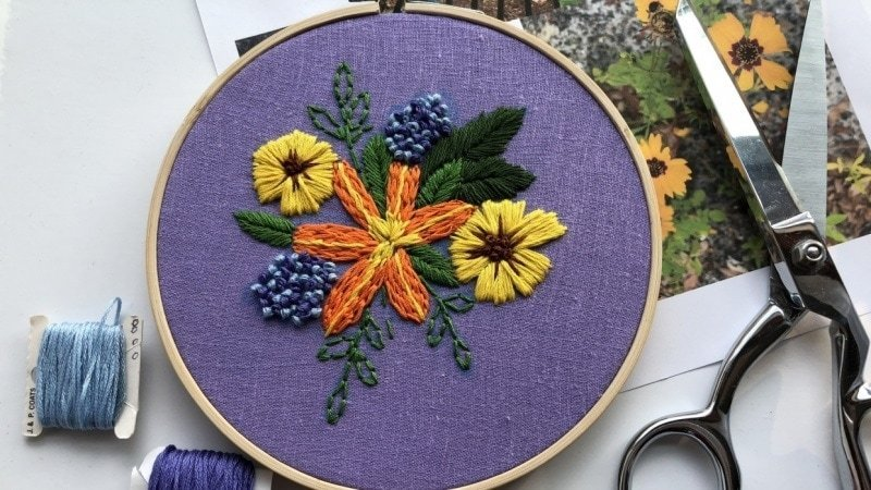 5 inch embroidery