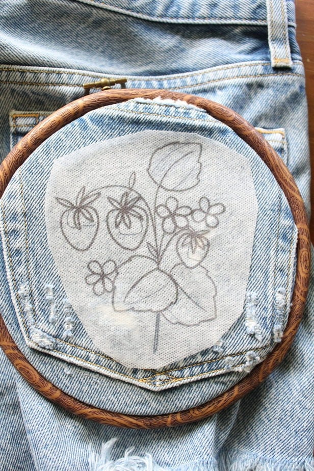 how to embroider onto clothes