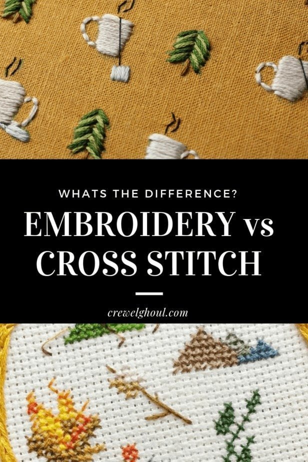 Whats the difference between embroidery and cross stitch?