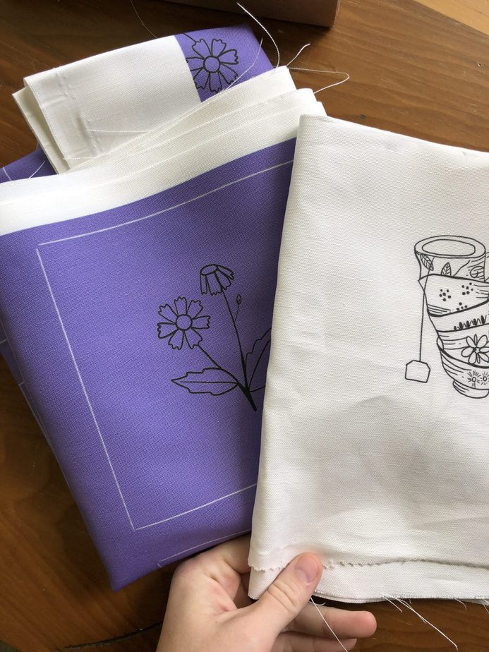 spoonflower printed fabric