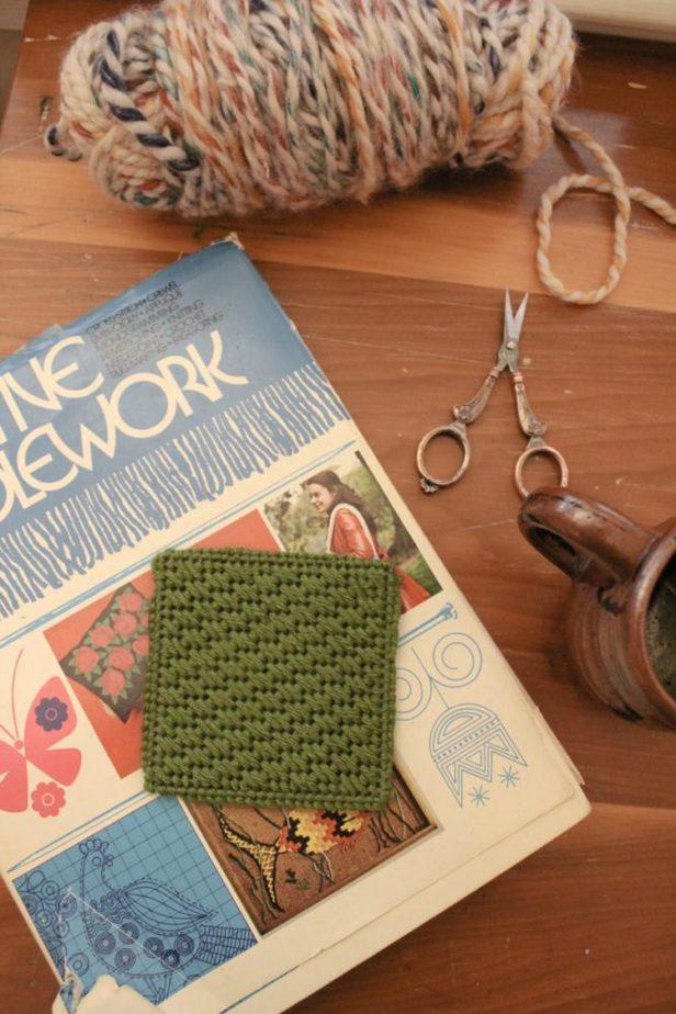 Needlepoint How To – DIY Needlepoint Coaster