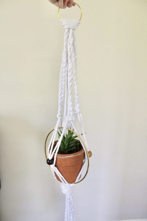 How to Make a Macrame Plant Hanger DIY Tutorial