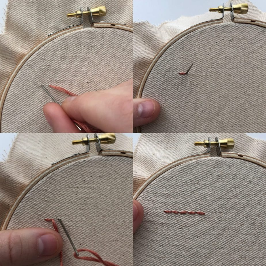 how to embroider a back stitch
