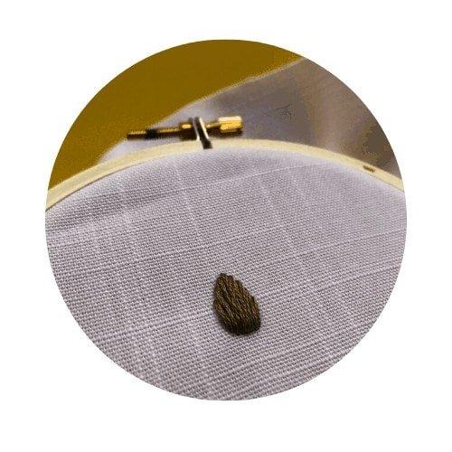 padded satin stitch leaf