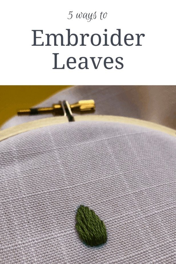 5 ways to embroider leaves