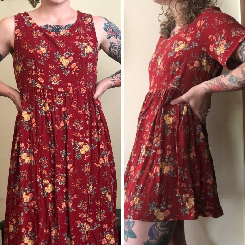 thrift flip dress
