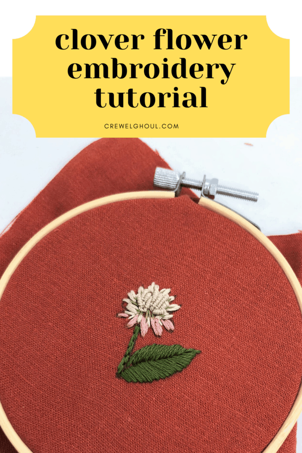 clover flower embroidery tutorial