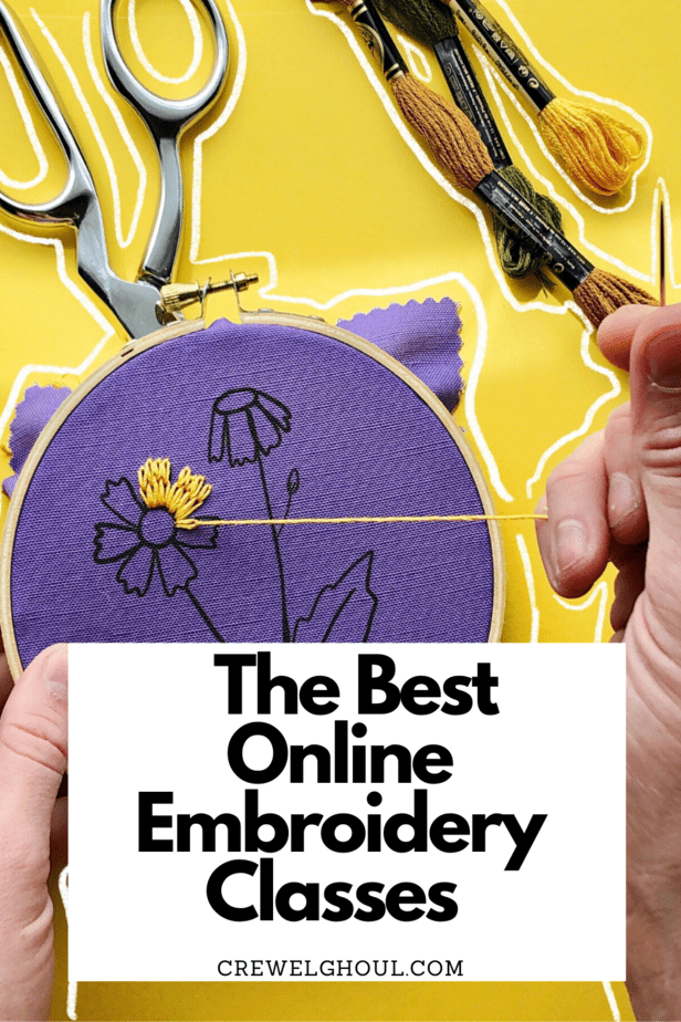 online hand embroidery classes to learn how to embroider