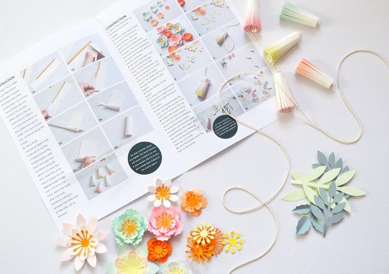 flower paper garland kit