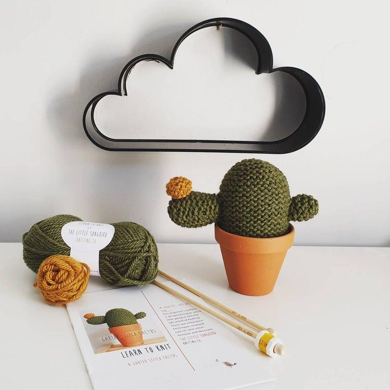 cactus knitting kit