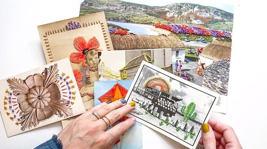 embroidery on photographs class by peggy dean