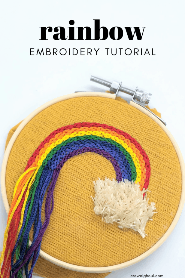free rainbow embroidery tutorial