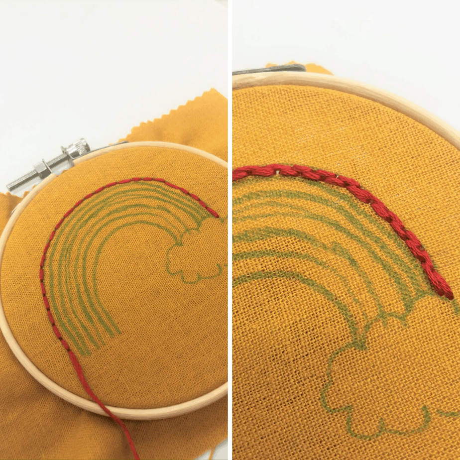 rainbow embroidery tutorial