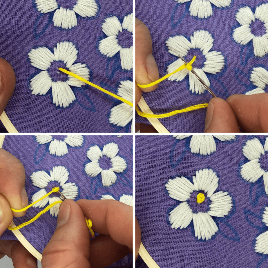 how to embroider a daisy