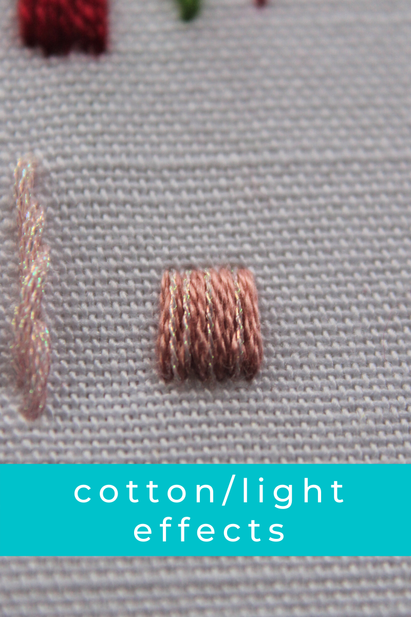 cotton thread and light effects used together