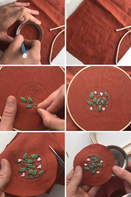 Personalized Mason Jar- Embroidery Project