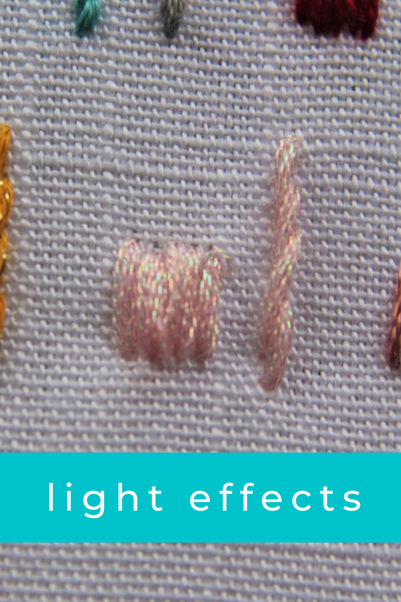 dmc embroidery floss light effects