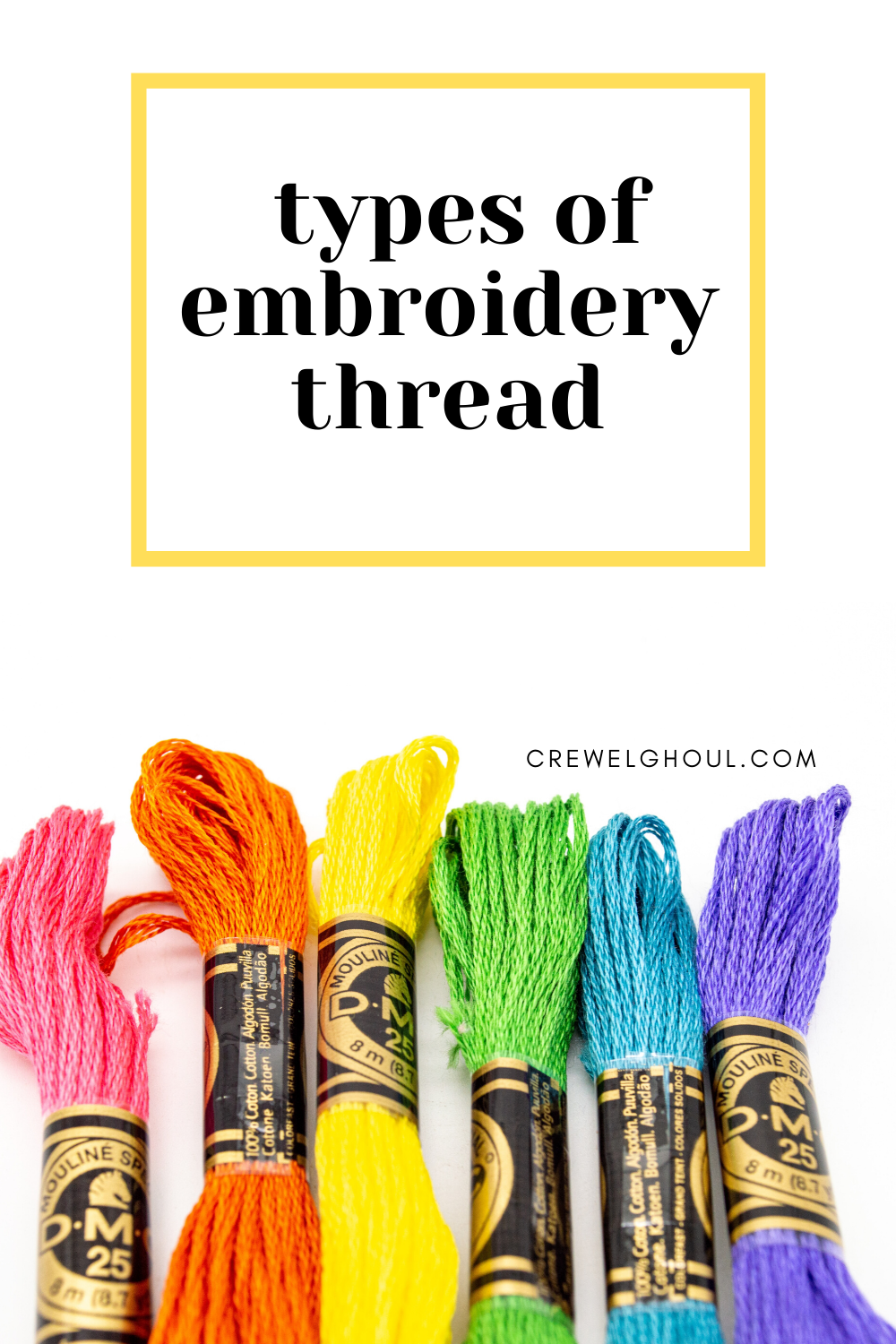 types of embroidery thread