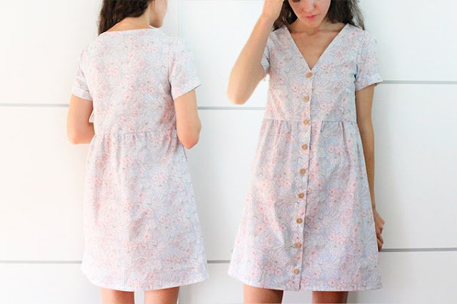 button dress sewing pattern