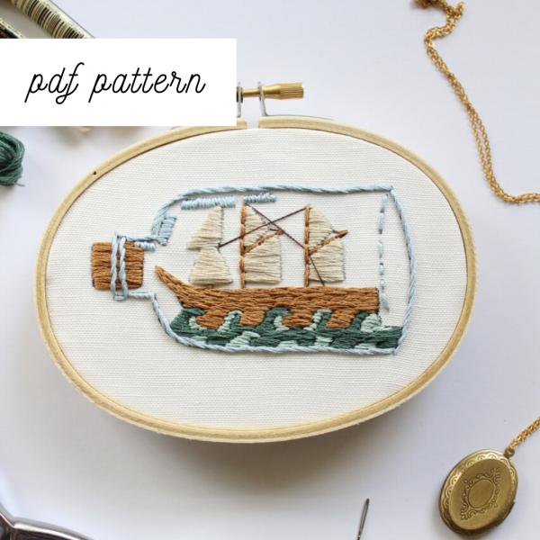 nautical embroidery design