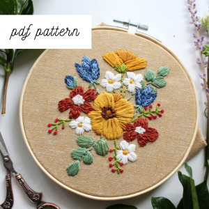floral embroidery pattern