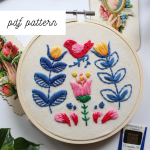 scandinavian embroidery pattern