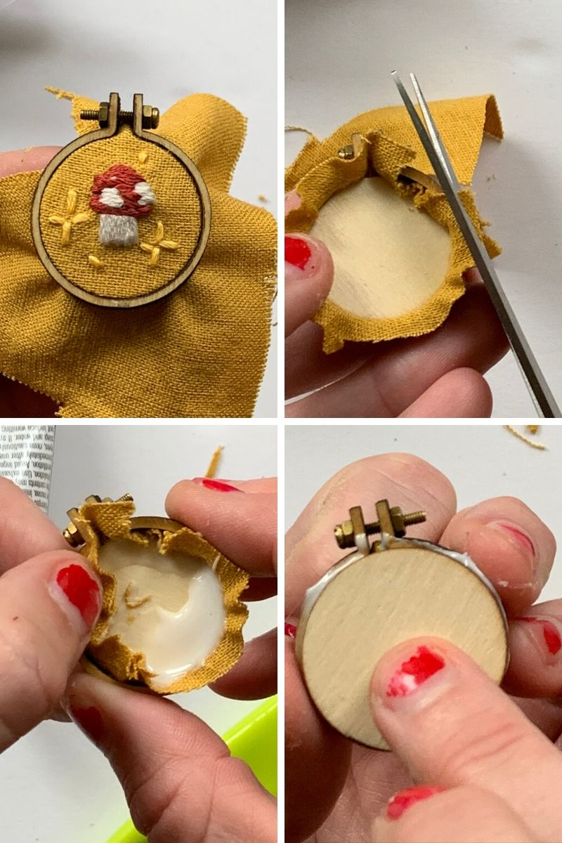 how to make an embroidered brooch