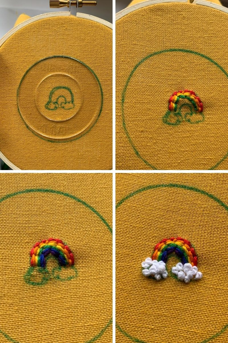 how to embroider a rainbow