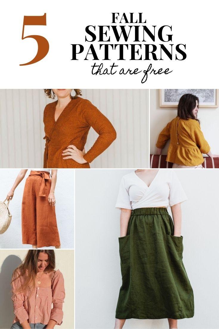 free fall sewing patterns