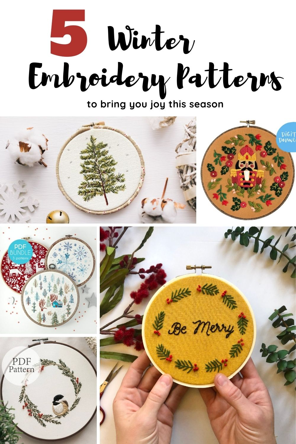 5 Winter Hand Embroidery Patterns To Bring You Joy This Season