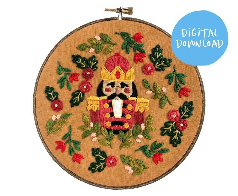 nutcracker hand embroidery pattern by FloralsAndFloss