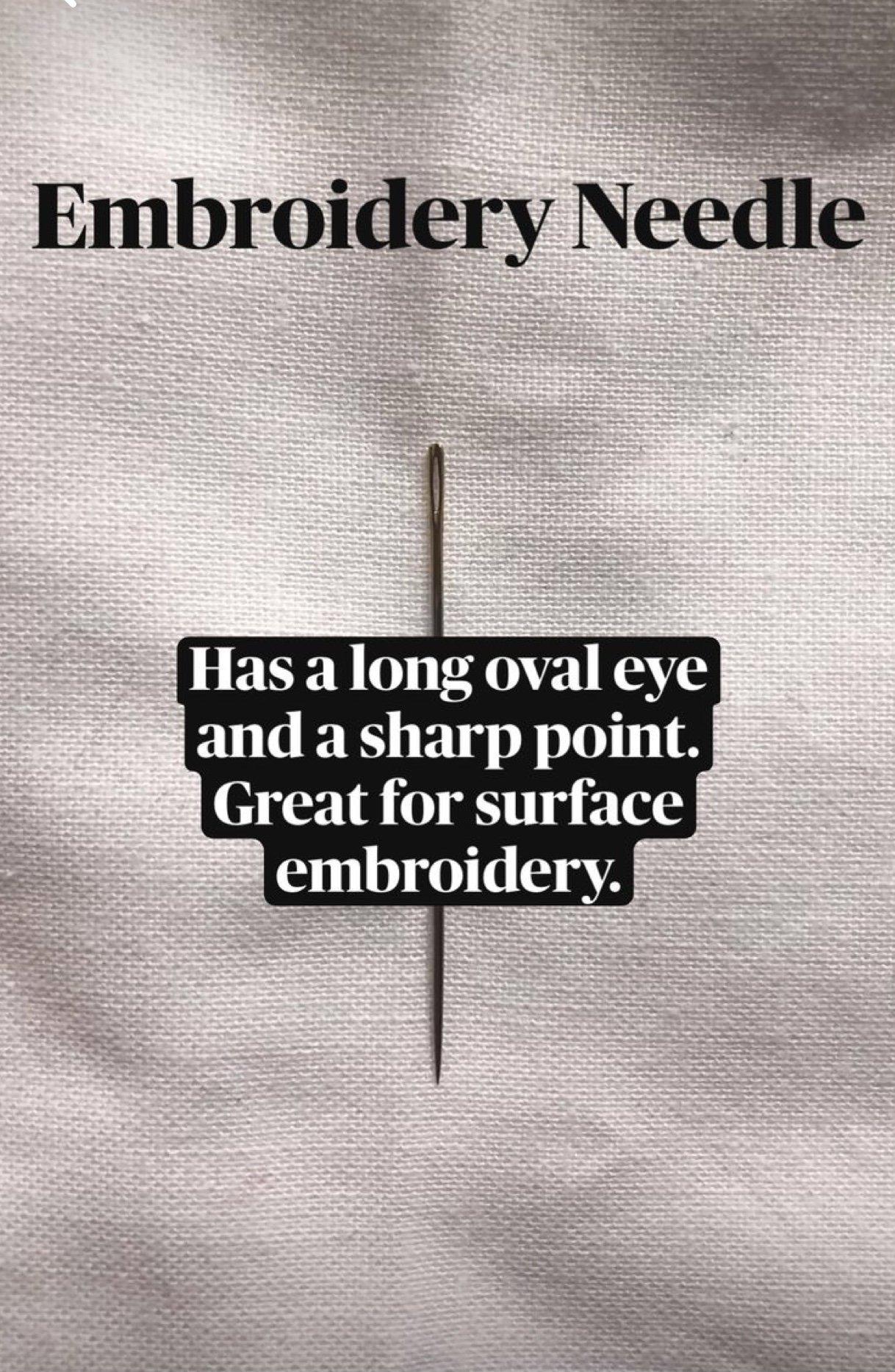 embroidery needle