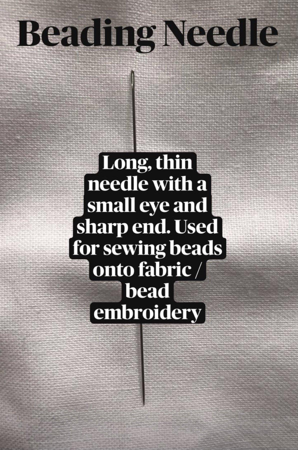 beading needle