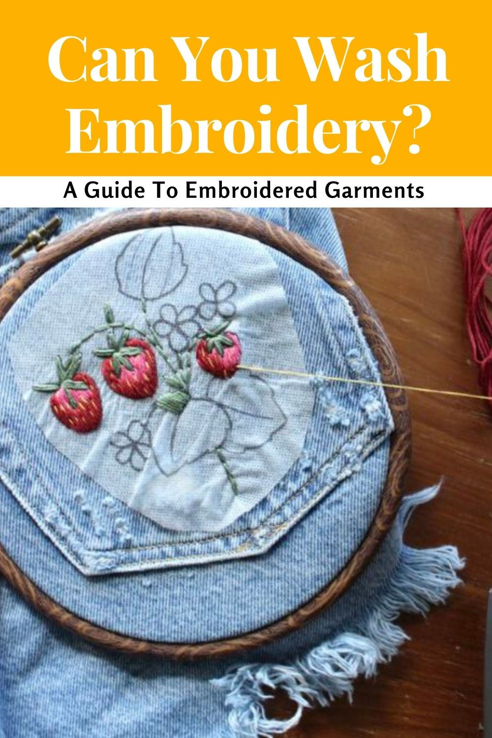 can you wash embroidered clothing? guide to embroidery garment care