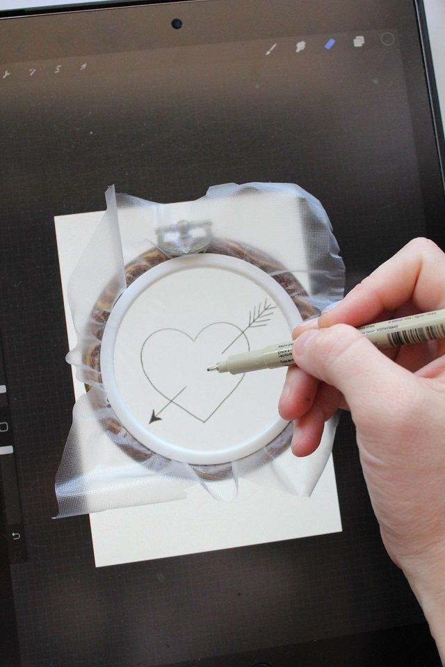 transferring embroidery design