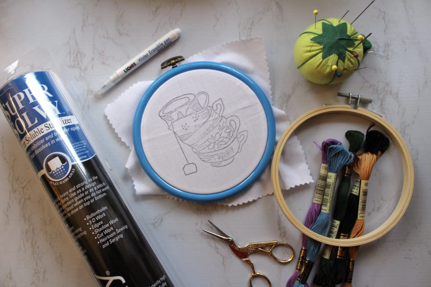 embroidery supplies and materials