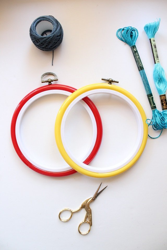 embroidery hoops and embroidery supplies